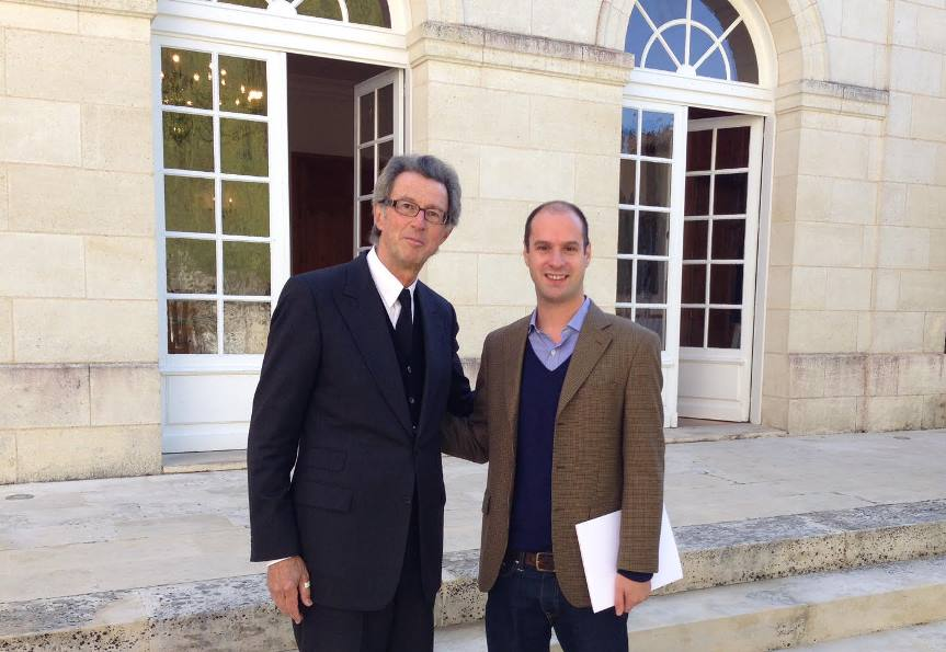 Diego with Christian Moueix of Chataux Lafluer Petrus in Pomerol and Dominus in Napa