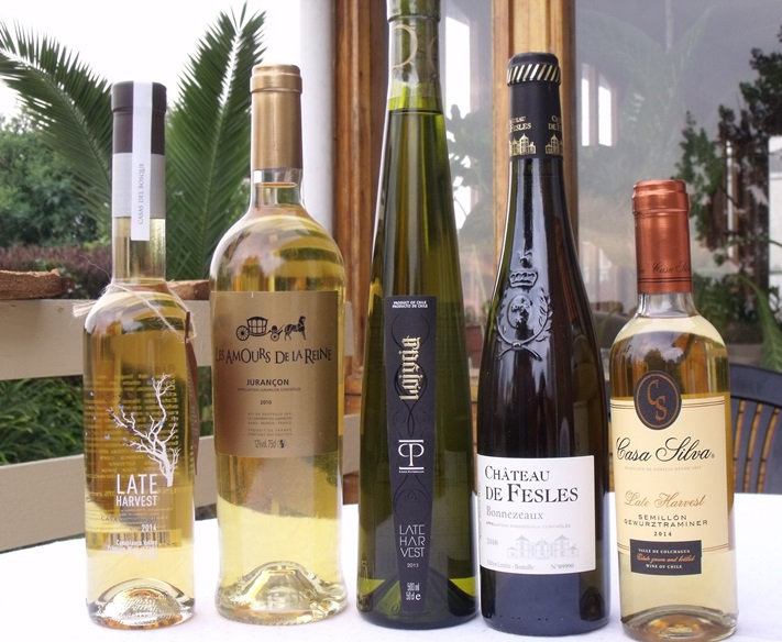 Sweet wines including late harvest