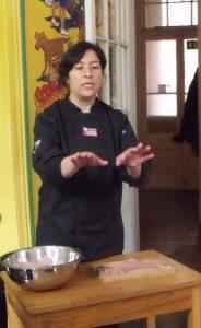 Chef Carolina explains how to prepare the fish