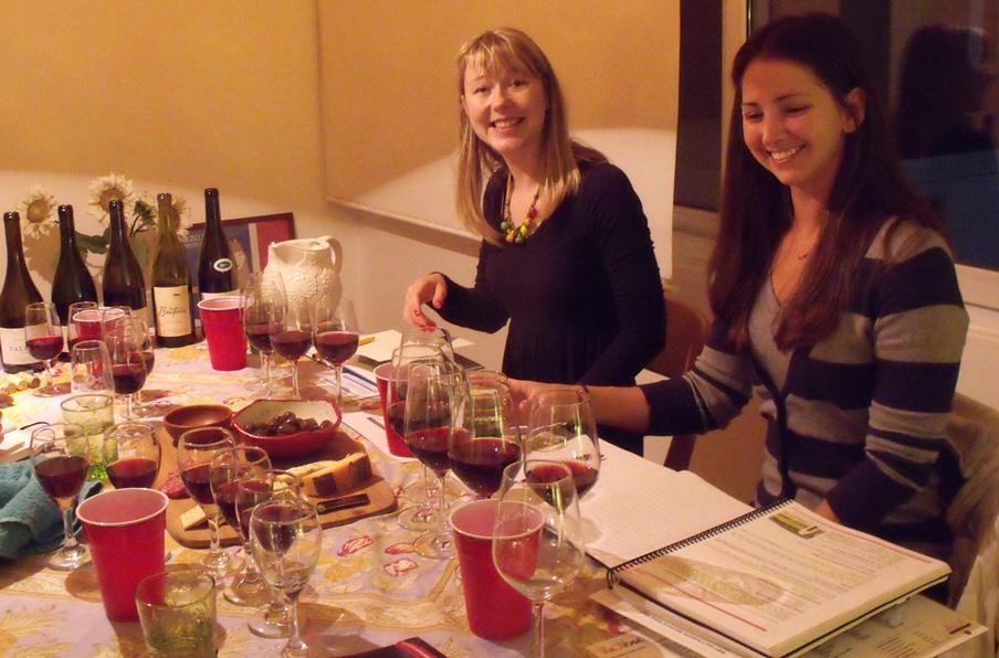 Tasting panel members Hattie and Lauren