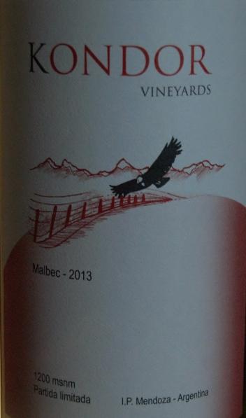 Kondor Malbec wine