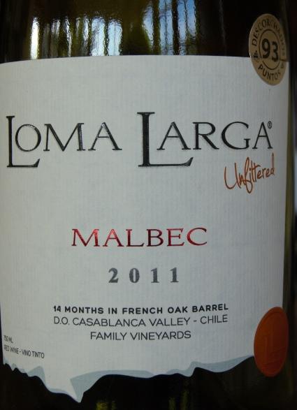 Loma Larga Malbec wine