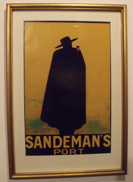 """The Sandeman """"Don"""" was invented in the 1920s to help market the company's twin products of Port and Sherry. The figure is wearing a Portuguese student's cape and a Spanish hat."""