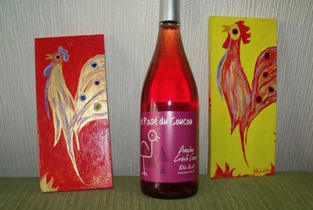 Artistic shades of pink: rosé wine