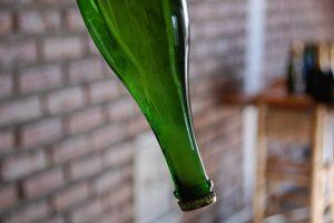 Sedimento en el cuello de la botella. (Foto cortesía de Nadezda Kuznetsova)