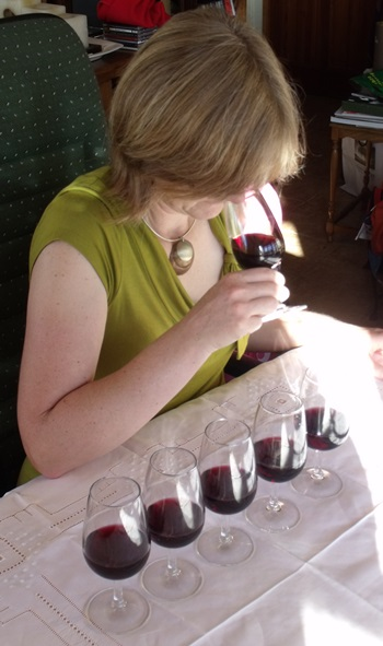 Tasting French wine